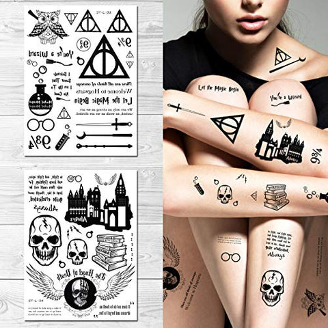 Supperb Temporary Tattoos - Magic Begin, Wizard, Magic (Set of 2)