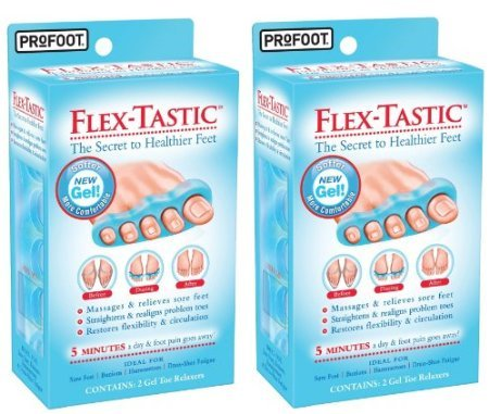 ProFoot Flex-Tastic Gel Toe Relaxers 2 in Pack (Pack of 2) Total 4 Relaxers