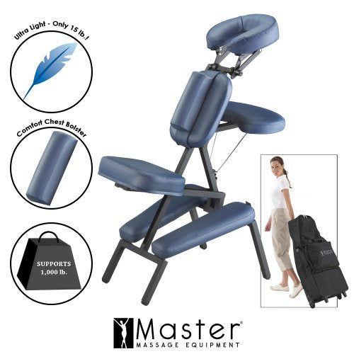 Master Massage Professional Portable Massage Chair, Blue