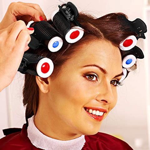 Hot Roller Clips Hair Curler Claw Clips Plastic Hair Rollers for Small, Medium, Large and Jumbo Hair Rollers (24 Packs, Style B)