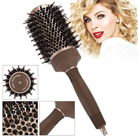 Anion Hair Comb, Anion Anti-static Round Hair Comb Salon Styling Brush Hairdressing Tools(53#)