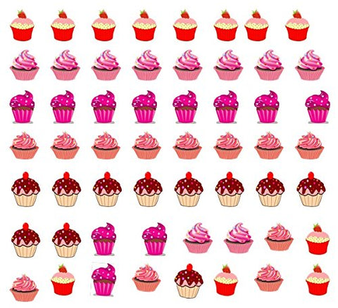 Food and Drinks Collection (Cupcake Nail Art Decals C1)