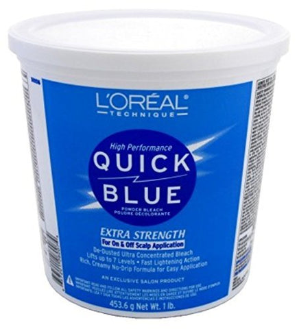 Loreal Quick Blue Powder Bleach Extra Strength 1Lb. (473ml) (2 Pack)