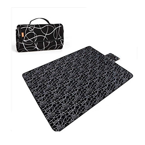 Picnic Blanket with Water Resistant Outdoor Mat Black 57 * 79 inch