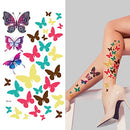 Image of Supperb Temporary Tattoos - Colorful Butterflies, Christmas Temporary Tattoo