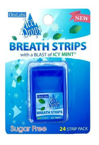 Ice Drops Breath Strips with Blast of Icy Mint (Sugar Free) by oralabs