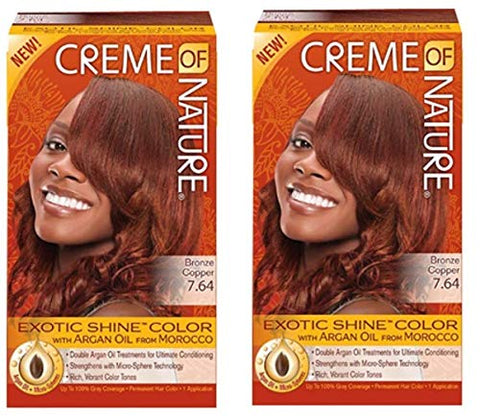 Creme Of Nature Color #7.64 Bronze Copper Exotic Shine (2 Pack)