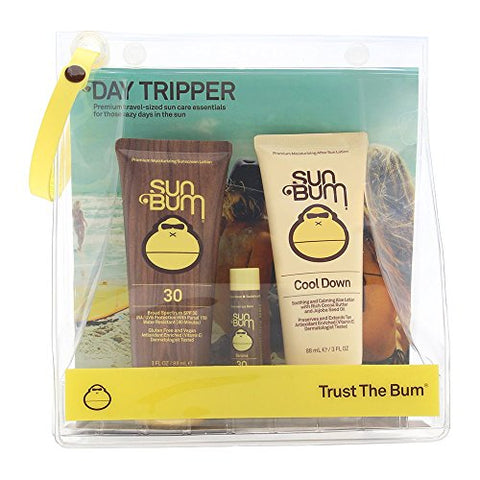Sun Bum Premium Day Tripper | Travel Sized Sun Care Pack With Moisturizing Sunscreen Lotion, Sunscre