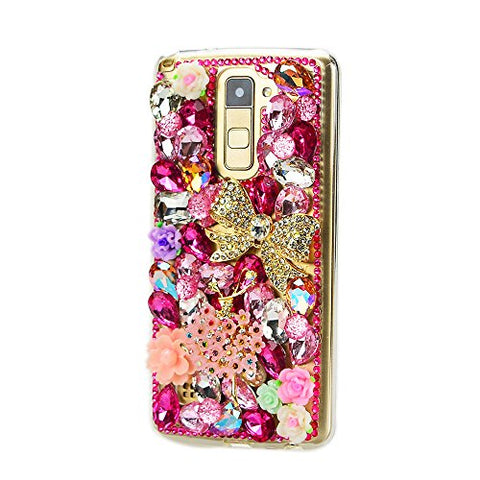 STENES Sparkly Bowknot Flowers Girl Flowers Case For Huawei Mate 10 Pro - Red