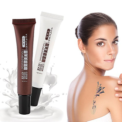 Tattoo Concealer Cream, Professional Waterproof Scar Hiding Spots Birthmarks Concealer Makeup Cover Up Cream Set