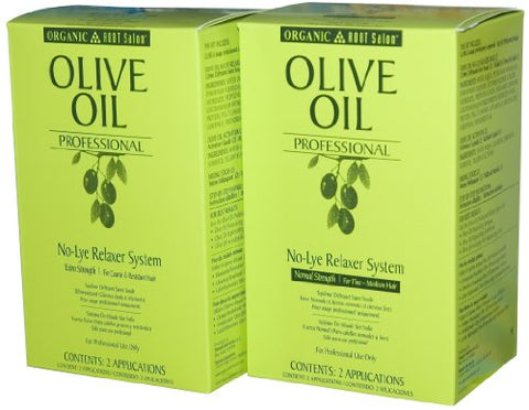 Organic Root Stimulator Sp Olive Oil Relaxer - Normal 2-Count (Pack of 2)
