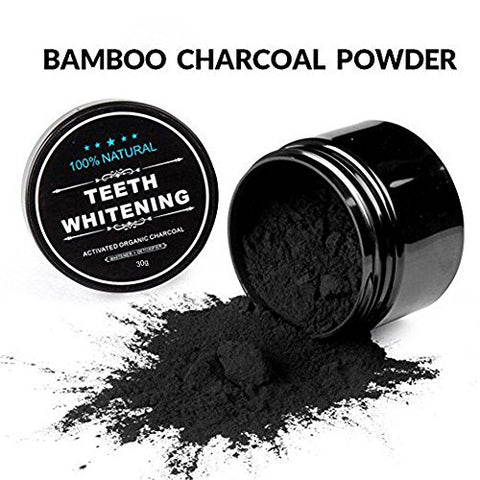 Teeth Whitening Coconut Shell Activated Carbon Powder Natural Flavor Oral Hygiene Tooth Care (3 Pcs)