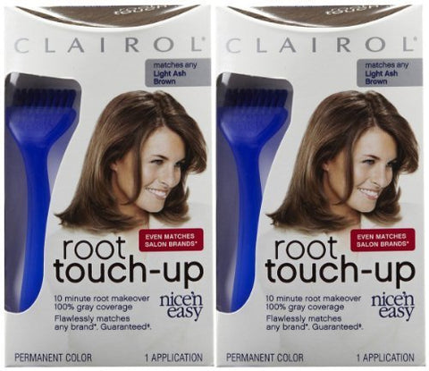 Clairol Nice n Easy Touch, Up, 006A, Light Ash Brown, 2 pk