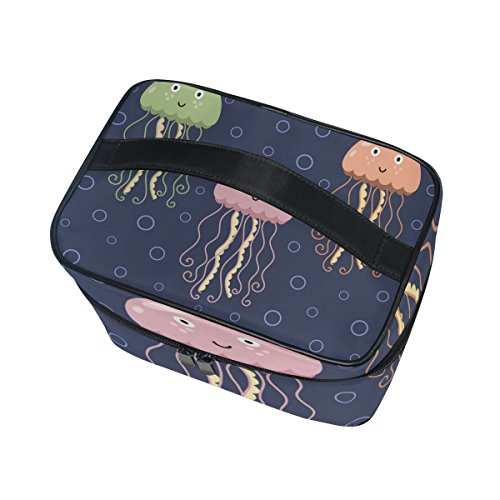Cooper girl Cute Sea Jelly Cosmetic Bag Travel Makeup Train Cases Storage Organizer