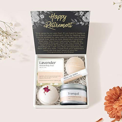 Retirement Spa Gift Box: Colleagues, Leave Job, Spa Gift Box from Coworkers