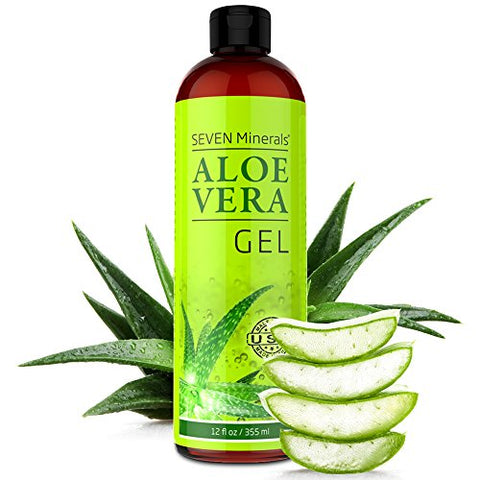 Aloe Vera Gel - 99% Organic, Big 12 oz - NO XANTHAN, so it Absorbs Rapidly with No Sticky Residue - made from REAL JUICE, NOT POWDER