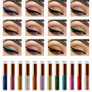 Image of Clearance Promotion Shiny Smoky Eyeshadow Waterproof Glitter Liquid Eyeliner Beauty Metallic Eye Shadow (C)