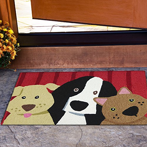 "Jellybean Picture Perfect Pets Indoor/Outdoor Machine Washable 21"" x 33"" Accent Rug"