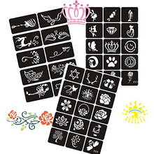 133P Airbrush Henna Tattoo Stencils Body Art Painting for Men/Women/Kids Glitter Tattoo Sticker DIY Drawing Templates