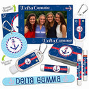 Image of Delta Gammaâ??Platinum Variety Setâ??Magnet Frame, 2 Lip Shimmers, Nail File, Mint Tin, Mirror, Lip