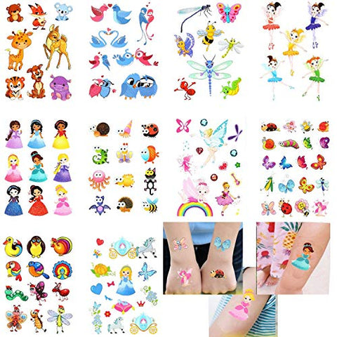 Kids Temporary Tattoos - More Than 100 Easy-to-Use Tattoos for Children, Boys and Girls (Variety Pack)