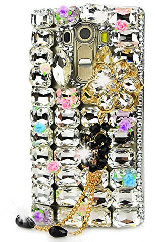 STENES Sparkly Big Flowers Pendant Flowers Case For Huawei Mate 10 Pro - White