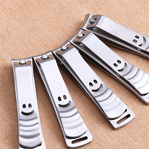 1 Pc Smile Stainless Steel Nails Clippers Finger Toe Nail Trimmer Professional Pedicure Trim Fingernails Toenail Foot Heel Skin Splendid Popular Heavy Duty Tools Big Small Women Gift Safety Travel Kit