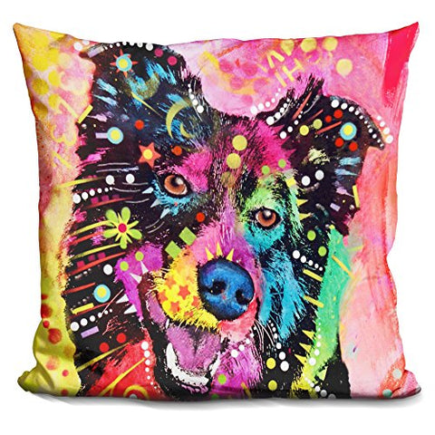 LiLiPi Border Collie Decorative Accent Throw Pillow