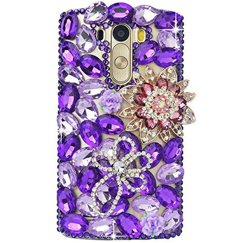 STENES Sparkly Pretty Flowers Case For Huawei Mate 10 Pro - Purple