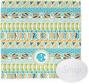 Image of Abstract Teal Stripes Wash Cloth (Personalized)