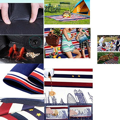 Extra Large Picnic Blanket with Water Resistant Handy Mat 79 * 79 inch