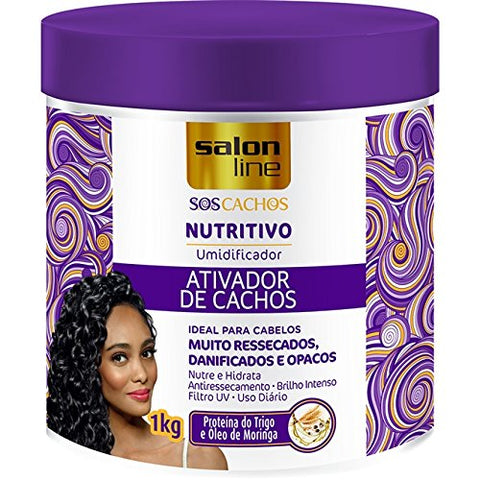 Salon Line - Linha Tratamento (SOS Cachos) - Ativador De Cachos Nutritivo 1000 Gr - (Salon Line - Treatment (SOS Curls) Collection - Nourishing Curl Activator Net 35.27 Oz)