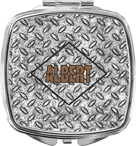 Diamond Plate Compact Makeup Mirror (Personalized)