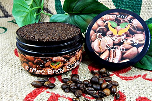 All Natural Skin Tightening Coffee Body Scrub Made With Added Caffeine to Be Anti Cellulite While Reducing Stretch Marks. Real Coffee and Brown Sugar Help to Exfoliate and Cleanse The Skin