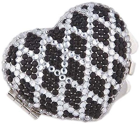 Heart Shaped Pill Box with Crystal Decorations (1152)