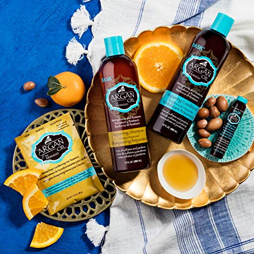 Hask Argan Oil Shampoo And Conditioner Set Repairing For All Hair Types, Color Safe, Gluten Free, Su