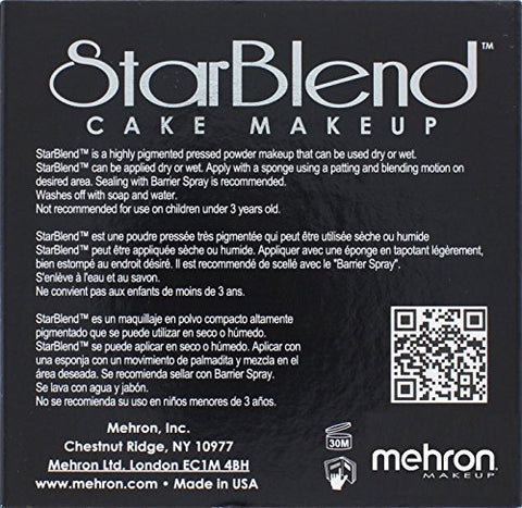 Mehron Star Blend Cake Makeup Sable