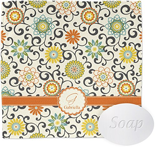 Swirls & Floral Wash Cloth (Personalized)