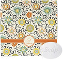 Image of Swirls & Floral Wash Cloth (Personalized)