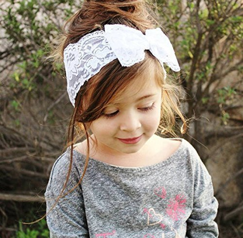 Yonger 1Pc Baby Girl Lace Headband Hair Band Bow Newborn Photograph Headbands Infant Hair Accessories