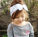 Image of Yonger 1Pc Baby Girl Lace Headband Hair Band Bow Newborn Photograph Headbands Infant Hair Accessories