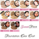 Image of 5pc KIT w/FACE BRUSH (FAIR 2) Mineral Makeup Set Full Size Powder Bare Skin Matte Foundation
