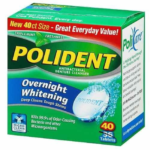 Polident Overnight Whitening Tablets - 40 Ea (Pack of 6) by Polident
