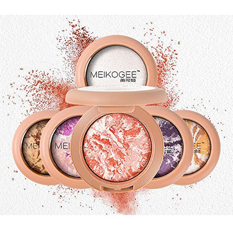 Single color Baked Polarization color Shimmer Metallic Glow Eyeshadow Pointy Eyeshadow (02) (06)