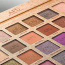 Image of AFU High Pigmented Eyeshadow Palette Matte + Shimmer 28 Colors Makeup Natural Bronze Nudes Neutral Smokey Blendable Waterproof Eye Shadows Cosmetic - C-12
