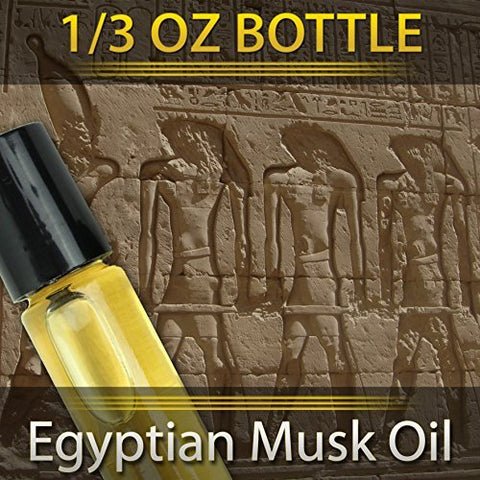 Pure Egyptian Musk Oil (Civet Blend) Imported From Egypt 1/3oz. 10ml By Utopia Africa