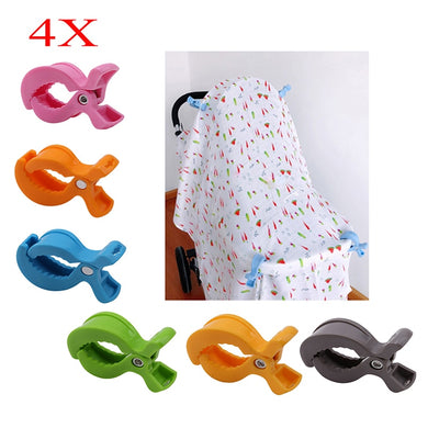 Baby Car Seat Accessories Toy 4pcs/Set Lamp Pram Stroller Peg To Hook Cover Blanket Clips