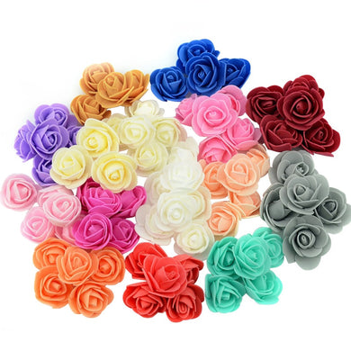 500PCS/lot Multicolor 3.0cm Artificial PE Foam Rose Head Rose Handmade Wedding Home Decoration Festival Party DIY Supplies
