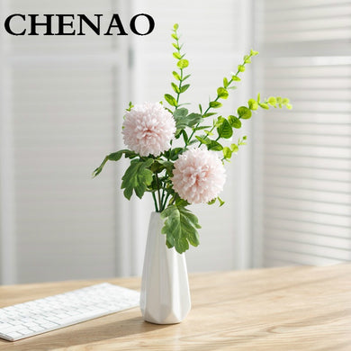 CHENAO High End Customization Simulation Hydrangea Peony Hybrid Bouquet Flower Table Decoration Home 1 Pieces 1 Bottl