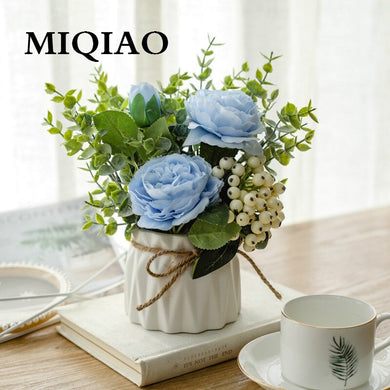 MIQIAO High Quality Hybrid Bouquet  Dahlia Irish Iris Flower Wedding Supplies Photography Props 1 Pieces1 Basin